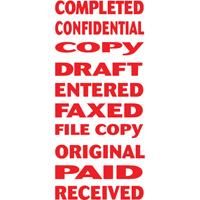 CONFIDENTIAL X-stamper Pre-Inked Re-Inkable 10-in-1 Word Stamp