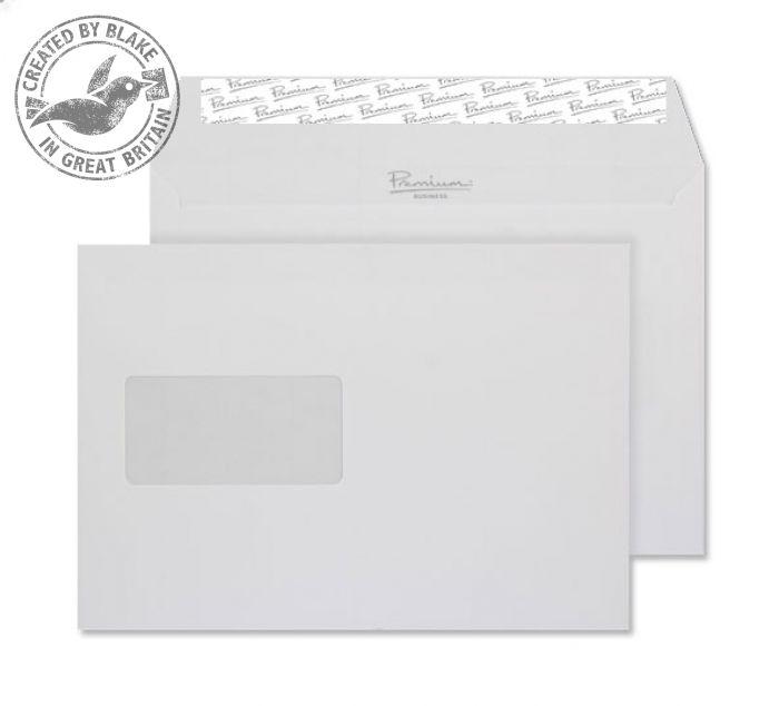 Premium Business Envelope Wallet Window Diamond White Laid