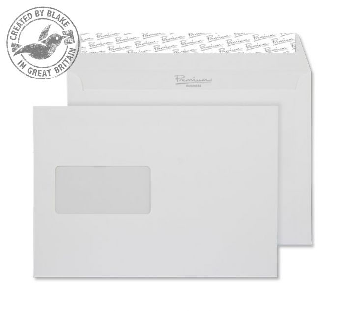 Premium Business Envelope Wallet Window Diamond White C5