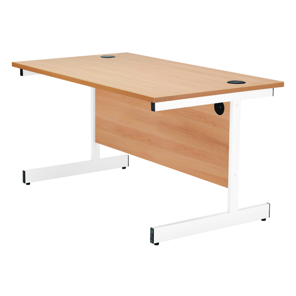 Jemini 1600mm Cantilever Rectangular Desk Beech